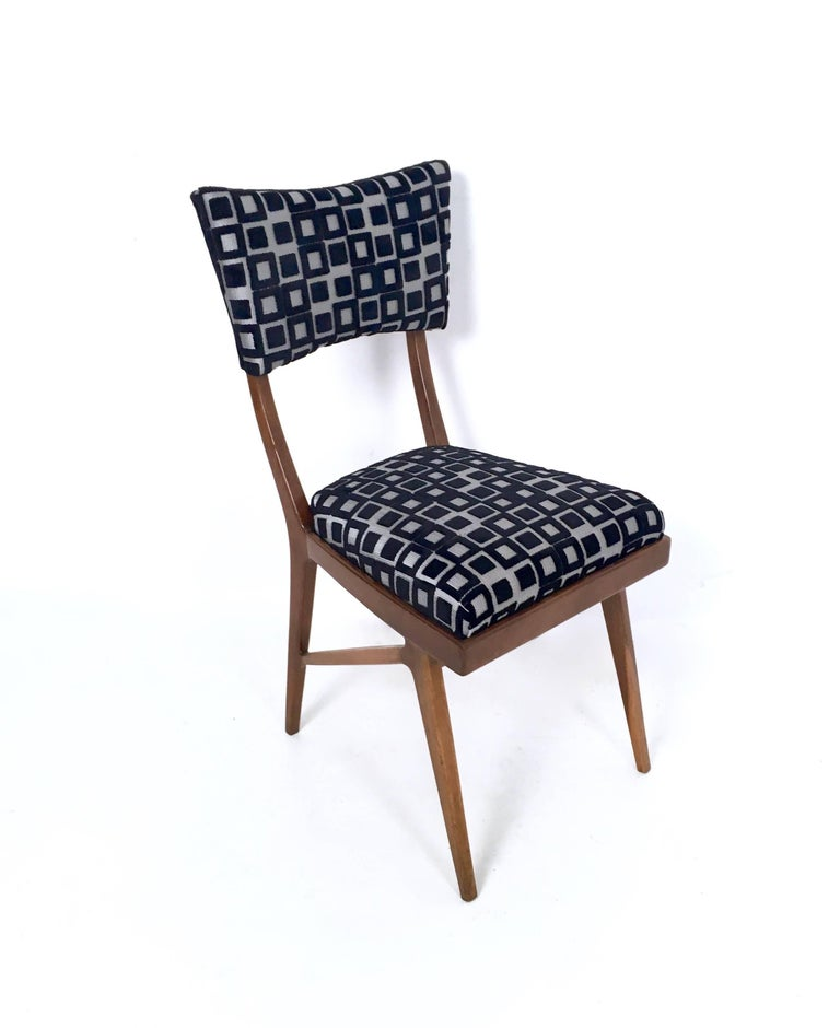 Set of Four Black and White Mahogany Chairs in the Style of Ico Parisi, 1950s For Sale 3