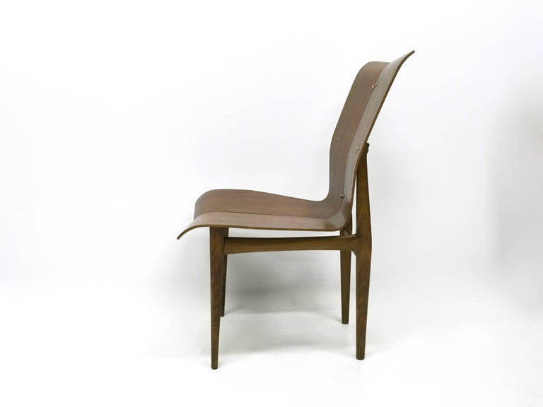 Set of Six Curved Wood Dining Chairs in the style of Tapiovaara, 1950s In Excellent Condition For Sale In Bresso, Lombardy