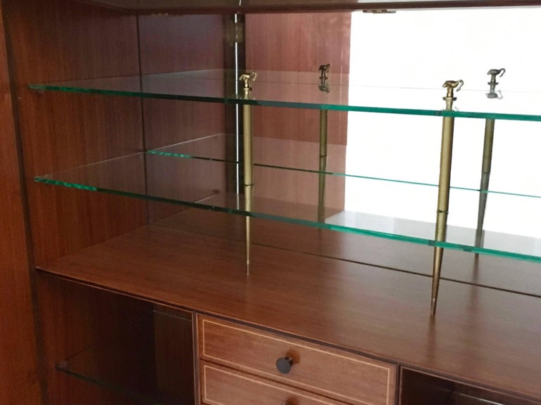 Mid-20th Century Cabinet Produced by Marelli & Colico Ascribable to Paolo Buffa, Italy, 1950s For Sale
