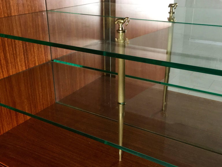 Brass Cabinet Produced by Marelli & Colico Ascribable to Paolo Buffa, Italy, 1950s For Sale
