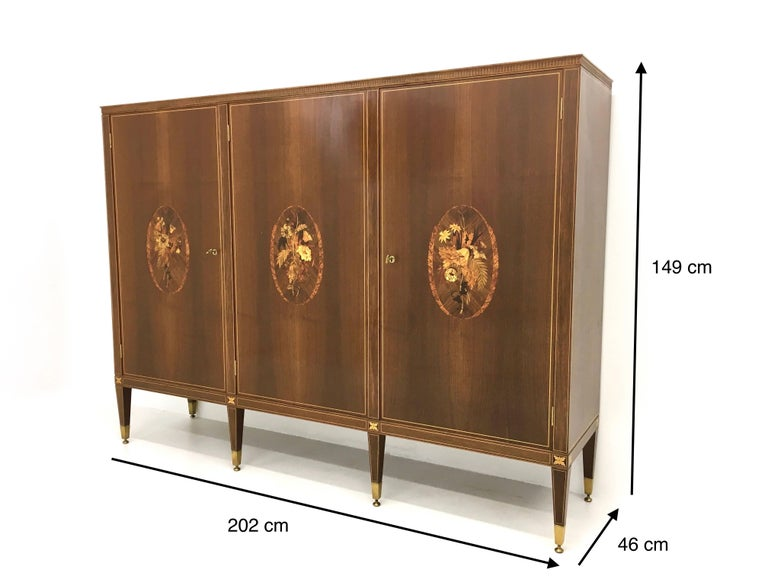 Cabinet Produced by Marelli & Colico Ascribable to Paolo Buffa, Italy, 1950s For Sale 6