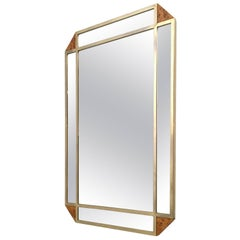 Rectangular Blond Root Wall Mirror by Gianfranco Gorgoni for Turri, Italy, 1970s
