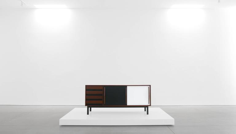 Charlotte Perriand Cabinet from Cité Cansado, Mauritania, circa 1958. Editioned by Galerie Steph Simon, Paris. Provenance: Cité Cansado, Mauritania Private Collection, New York.