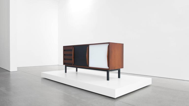 Charlotte Perriand Cabinet from Cité Cansado, Mauritania In Excellent Condition In LAGUNA BEACH, CA