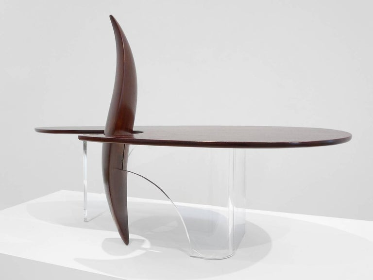 Lucite Michael Coffey 'Encounter' Coffee Table For Sale