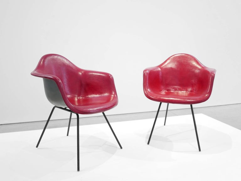 American Charles and Ray Eames Pair of 'DAX' Chairs For Sale