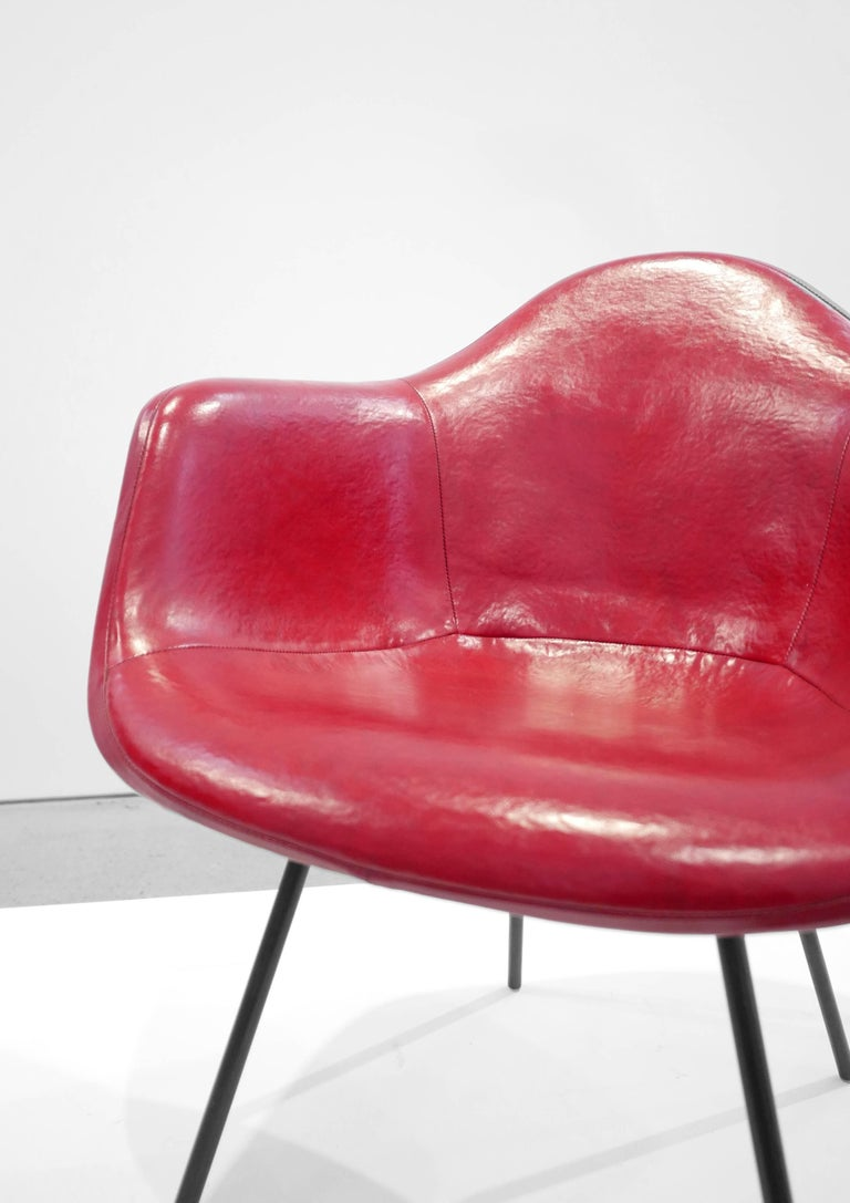 Enameled Charles and Ray Eames Pair of 'DAX' Chairs For Sale
