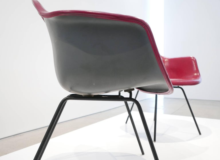 Mid-20th Century Charles and Ray Eames Pair of 'DAX' Chairs For Sale