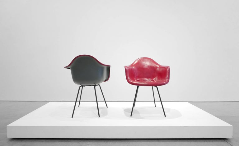 Plastic Charles and Ray Eames Pair of 'DAX' Chairs For Sale
