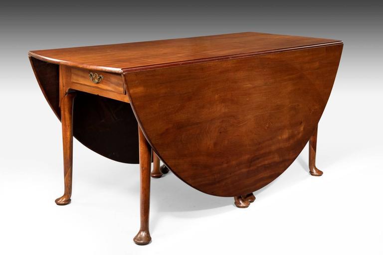 Large george ii oval drop leaf dining table for sale at for Large drop leaf dining room tables
