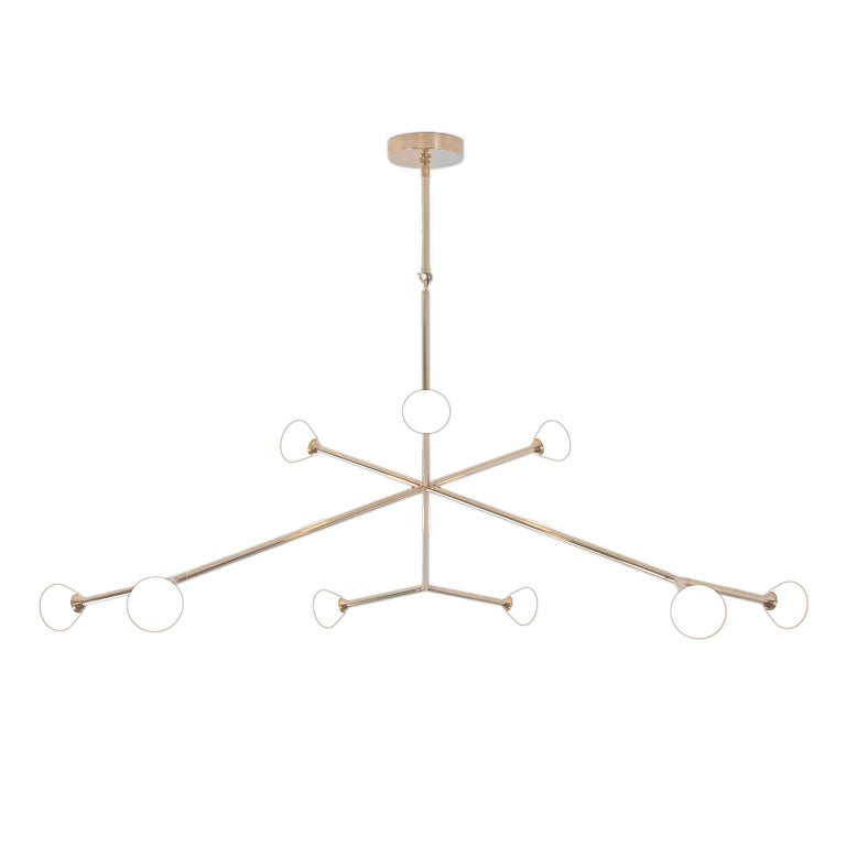 Super Nova Chandelier, Contemporary Branching Brass Modern LED Light Fixture
