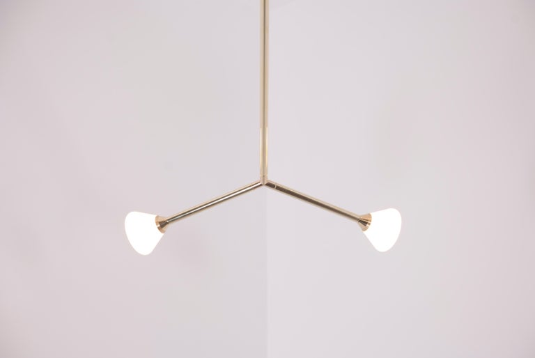 Super Nova Chandelier, Contemporary Branching Brass Modern LED Light Fixture In New Condition For Sale In Chicago, IL