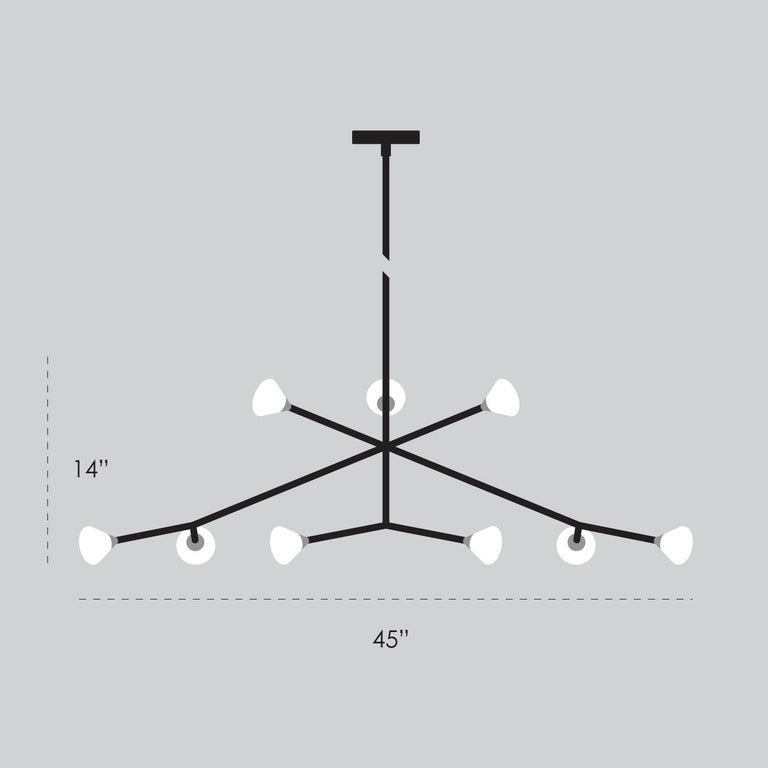 Super Nova Chandelier, Contemporary Branching Brass Modern LED Light Fixture For Sale 3