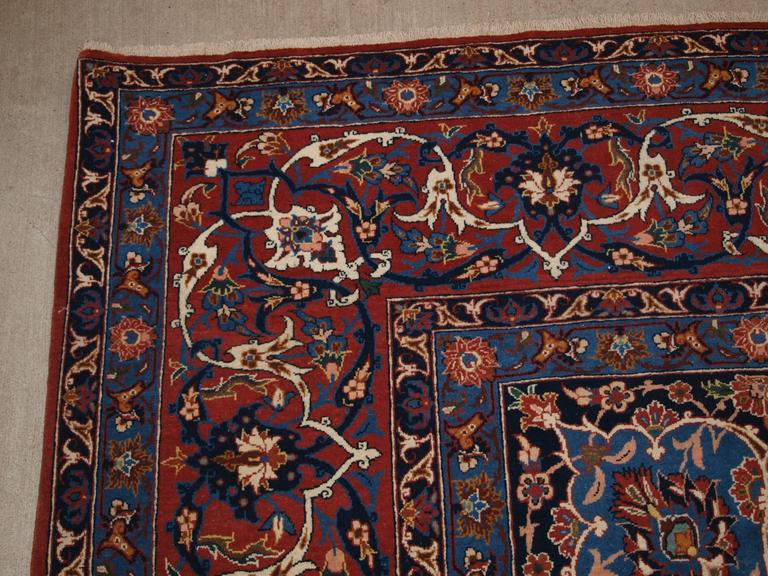 Old Persian Isfahan Carpet Of Large Size With All Classic Design Circa 1920 For Sale At 1stdibs