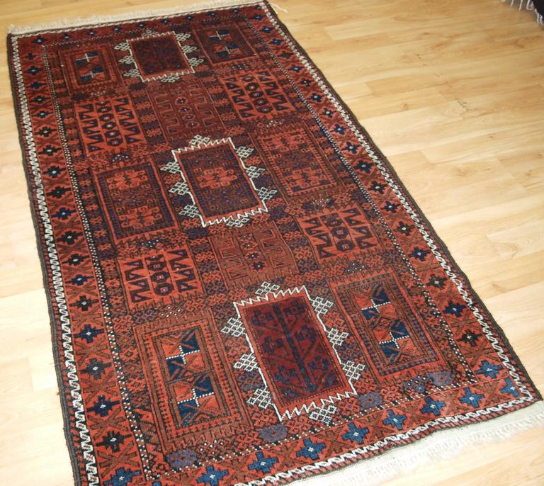 Antique Baluch Rug With Traditional Timuri Or Yaquab Khani