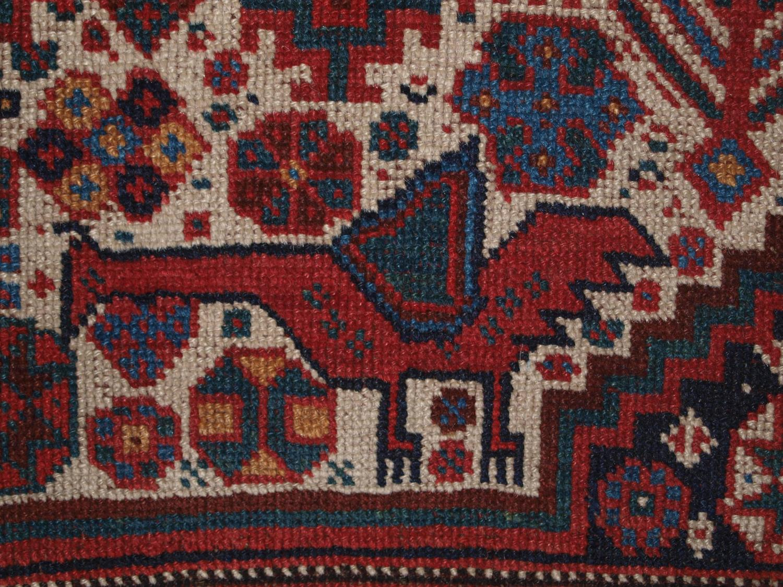 Antique South West Persian Khamseh Tribal Rug Bird