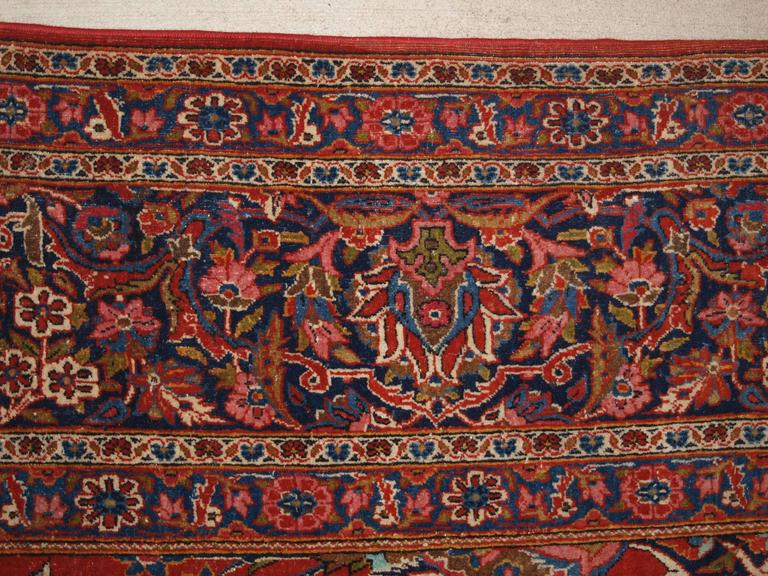 Old Persian Kashan Carpet Of Large Size With A Classic Floral Design Circa 1920 For Sale At 1stdibs