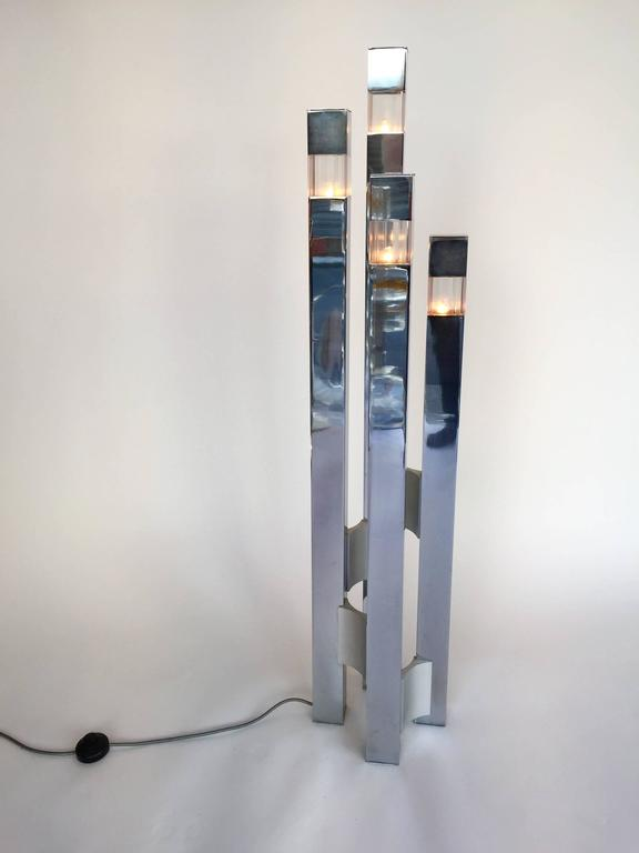 Floor Lamp Cubic by Gaetano Sciolari, 1970s, Italy For Sale 2