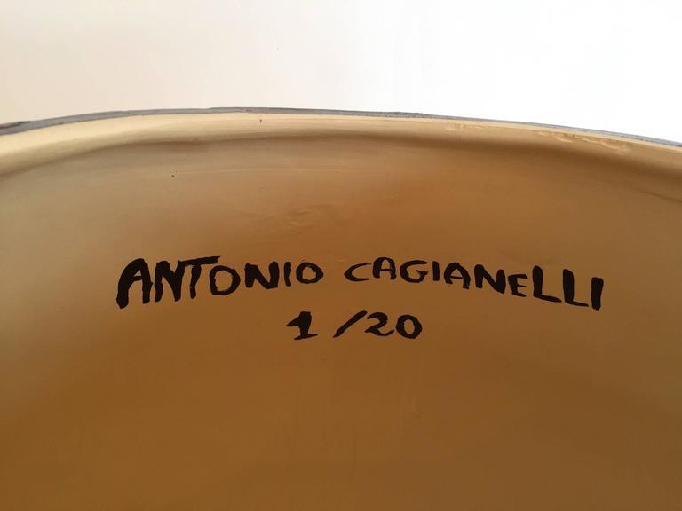 Stool Skull in Grey Ceramic by Antonio Cagianelli, Contemporary For Sale 2
