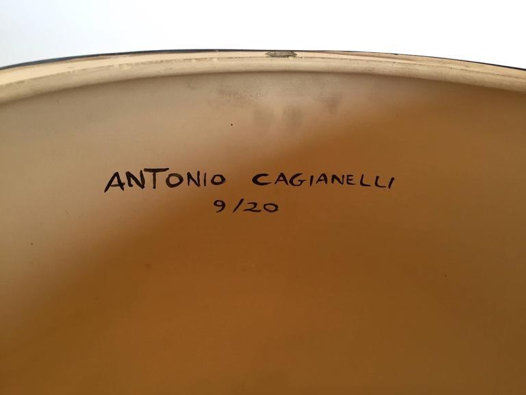 Stool Skull in Grey Ceramic by Antonio Cagianelli, Contemporary For Sale 3