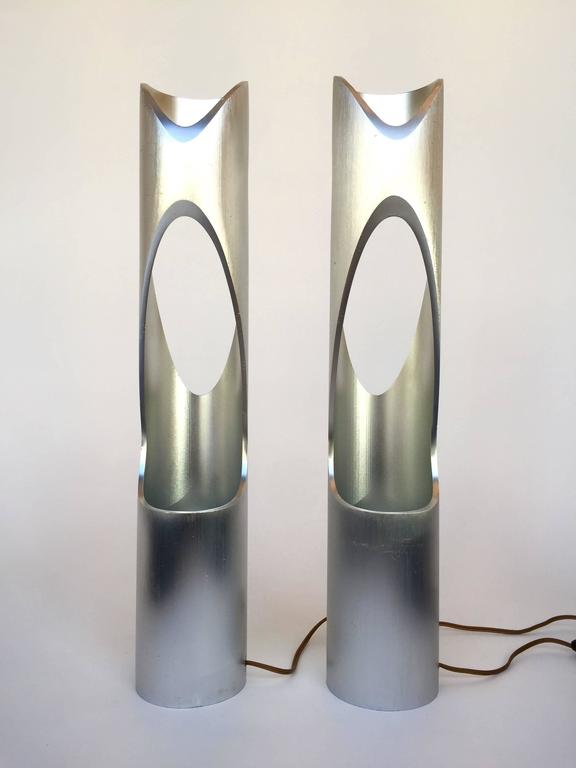 Cast Pair of Lamps Sculpture, 1970s, Italy For Sale