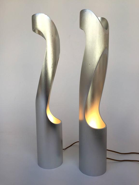 Pair of Lamps Sculpture, 1970s, Italy In Good Condition For Sale In SAINT-OUEN, FR