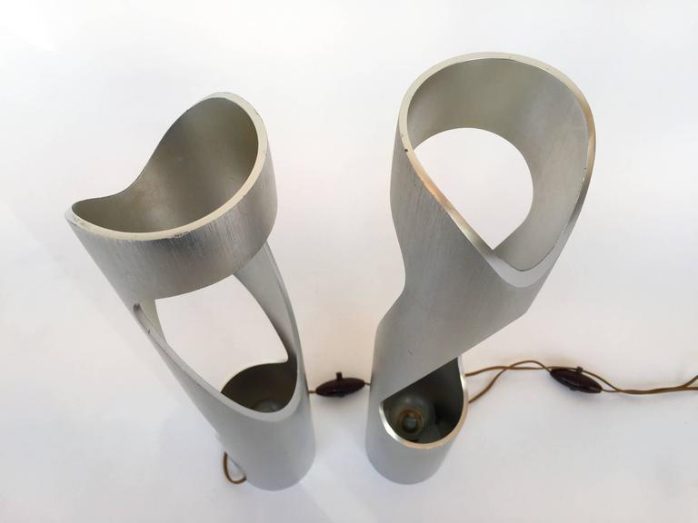 Late 20th Century Pair of Lamps Sculpture, 1970s, Italy For Sale