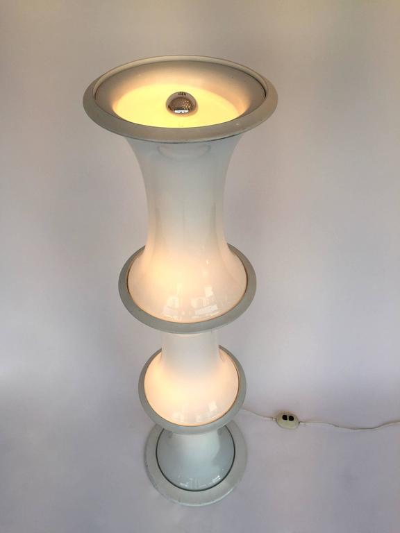 Glass Floor Lamp Bamboo by E. Tronconi for Vistosi Italy, 1970s For Sale