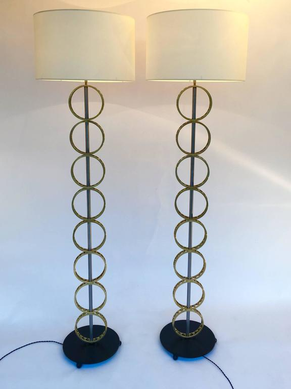 Pair of Concentric Circle Floor Lamp, Contemporary, France at 1stdibs