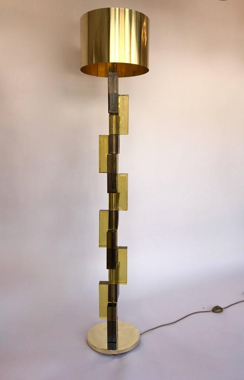 Contemporary Floor Lamps Cubic Murano Glass, Italy For Sale 4
