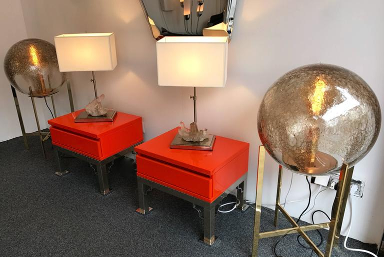 Pair of Rock Crystal Quartz Lamps, France, 1970s In Good Condition For Sale In SAINT-OUEN, FR