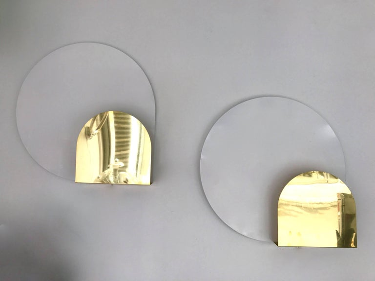 Italian Pair of Sconces by Pia Guidetti Crippa for Lumi, Italy, 1980s For Sale