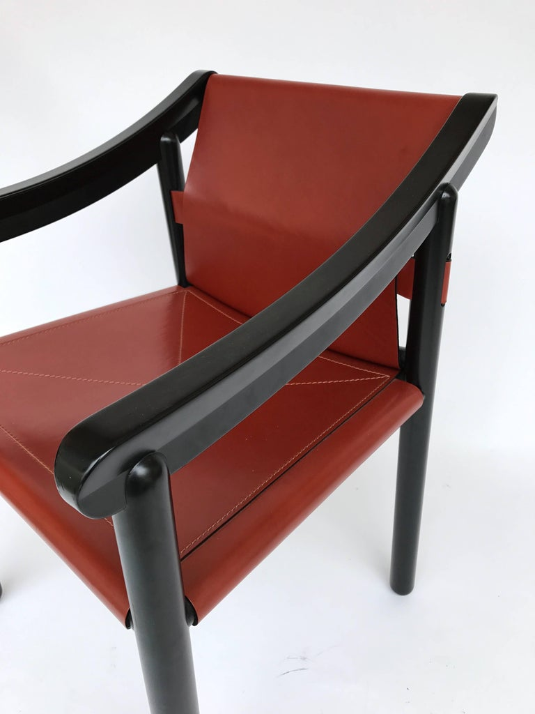 Pair of Armchairs by Vico Magistretti for Cassina, Italy, 1980s For Sale 1