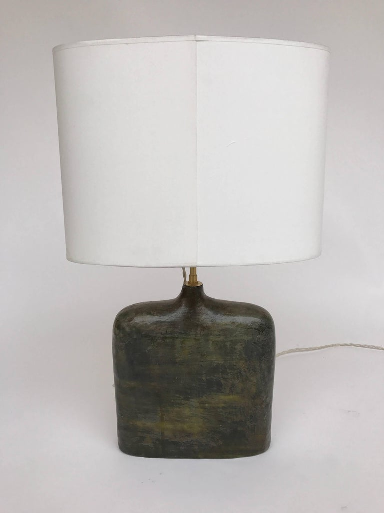 Mid-20th Century Bottle Ceramic Lamp by Marcello Fantoni, Italy, 1970s For Sale