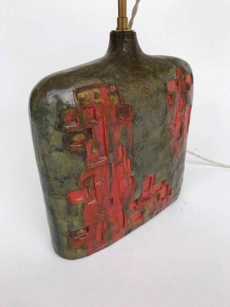 Terracotta Bottle Ceramic Lamp by Marcello Fantoni, Italy, 1970s For Sale