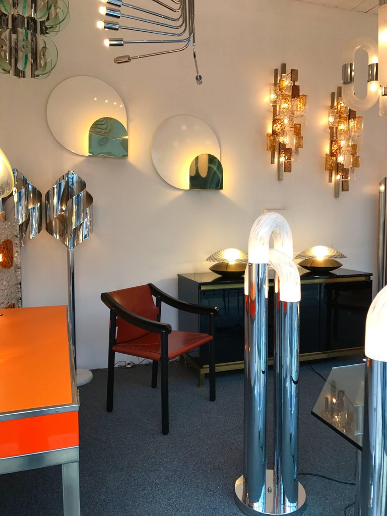 Lacquered 4 Sconces by Pia Guidetti Crippa for Lumi, Italy, 1980s For Sale
