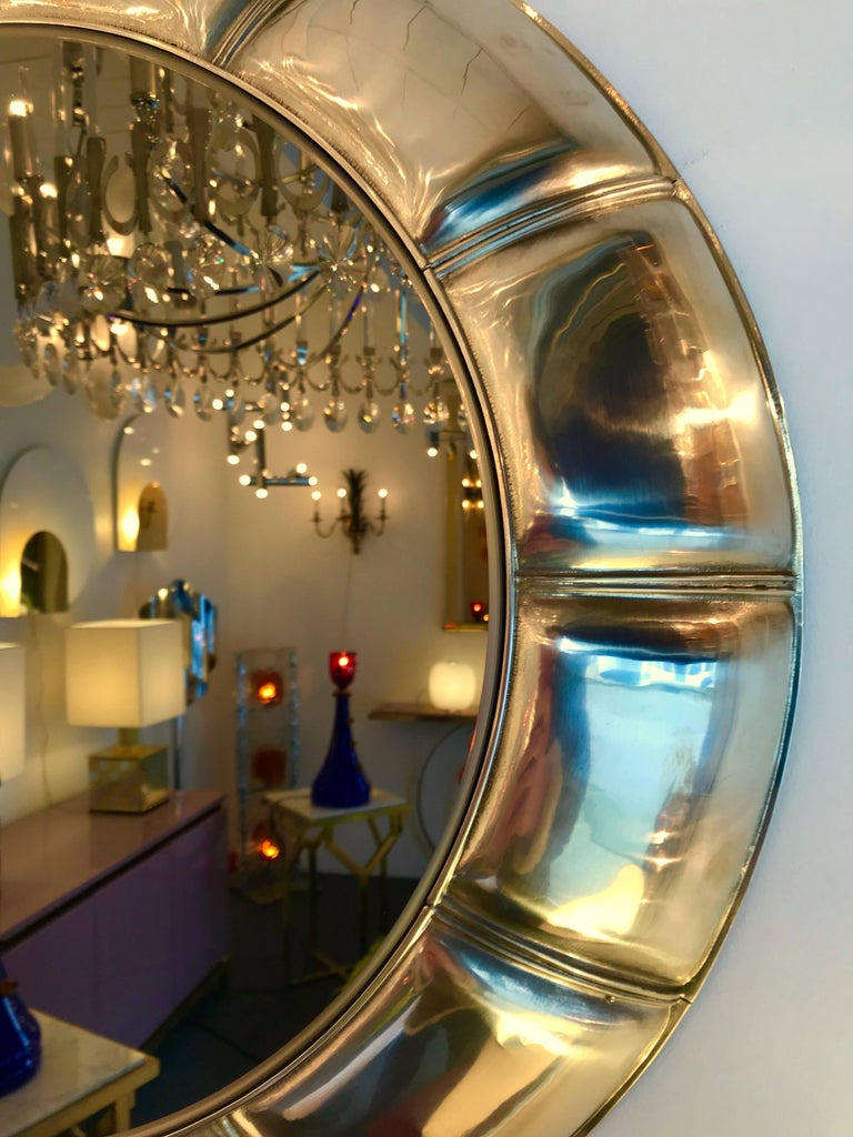 Contemporary Chain Brass Mirror, Italy For Sale 1