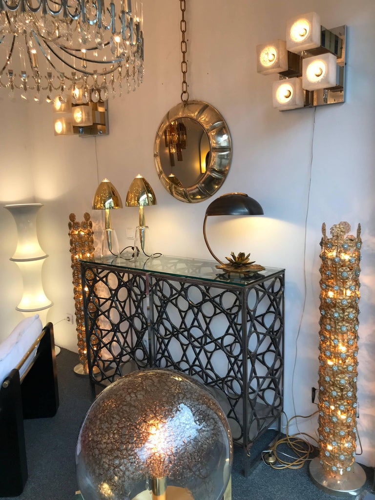 Contemporary Chain Brass Mirror, Italy For Sale 3