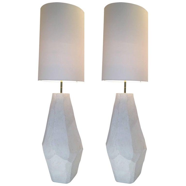Contemporary Floor Lamps in Ceramic by Roberto Razeni, Italy