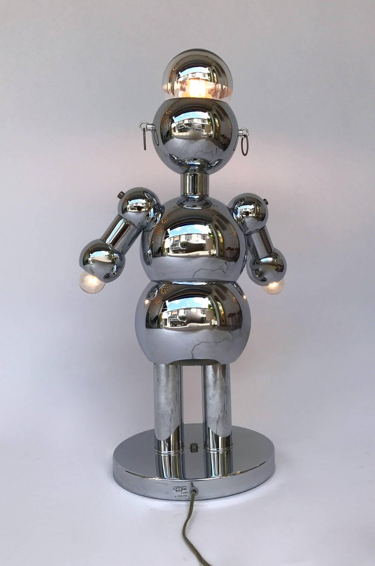 Robot Lamp By Torino Lamps Usa 1970s At 1stdibs