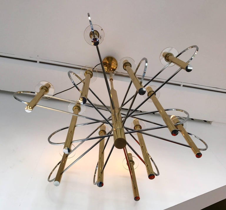 Late 20th Century Chandelier by Sciolari, Italy, 1970s For Sale