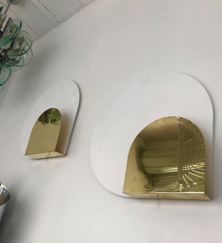 Lacquered Pair of Sconces by Pia Guidetti Crippa for Lumi, Italy, 1980s For Sale