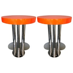 Pair of Side Table Clover Lacquered, Italy, 1970s