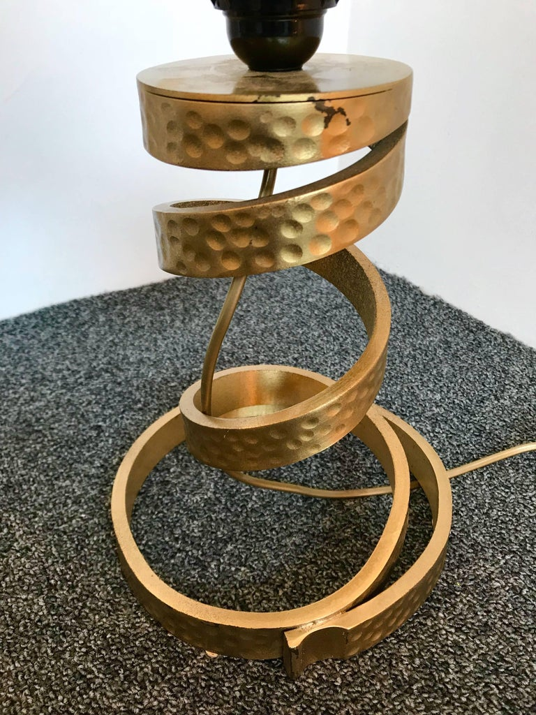 Pair of Brass Lamps by Luciano Frigerio, Italy, 1970s For Sale 1