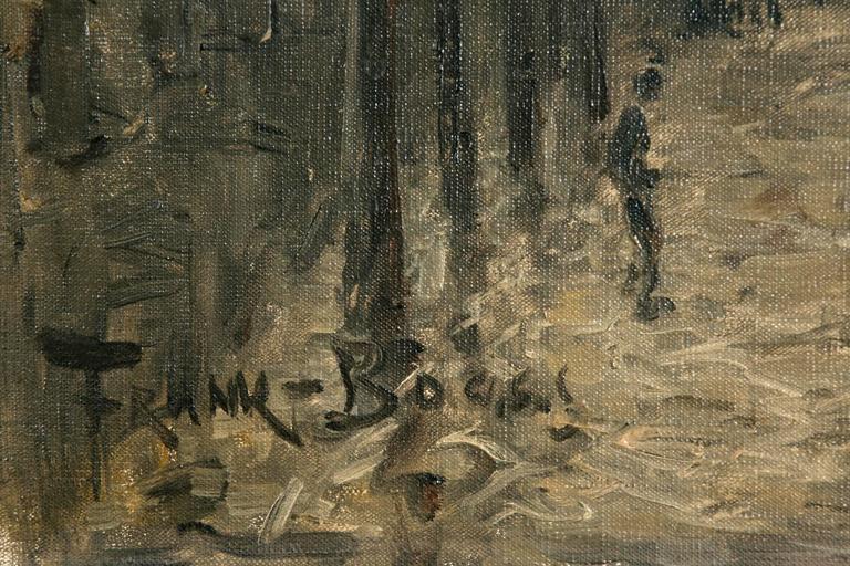 Expressionist Frank Boggs, Oil on Canvas, Les Quais de la Seine à Paris For Sale