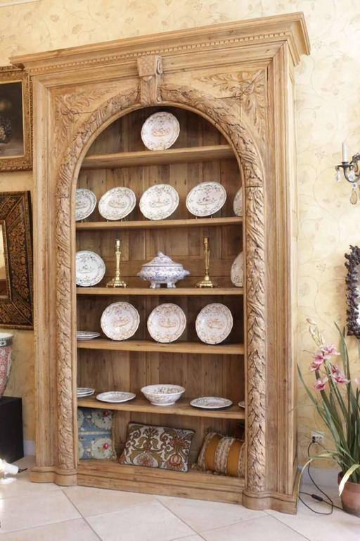 French, 18th Century, Oak Bibliotheque Book Case and Display Cabinet In Good Condition For Sale In Saint-Ouen, FR