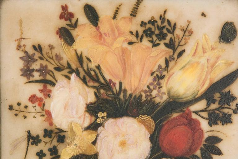 Spanish 17th century pretty flowers bouquet on a vase painted on renaissance spanish 17th century pretty flowers bouquet on a vase painted on marble for sale mightylinksfo