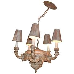Neoclassical-Style Five-Light Chandelier