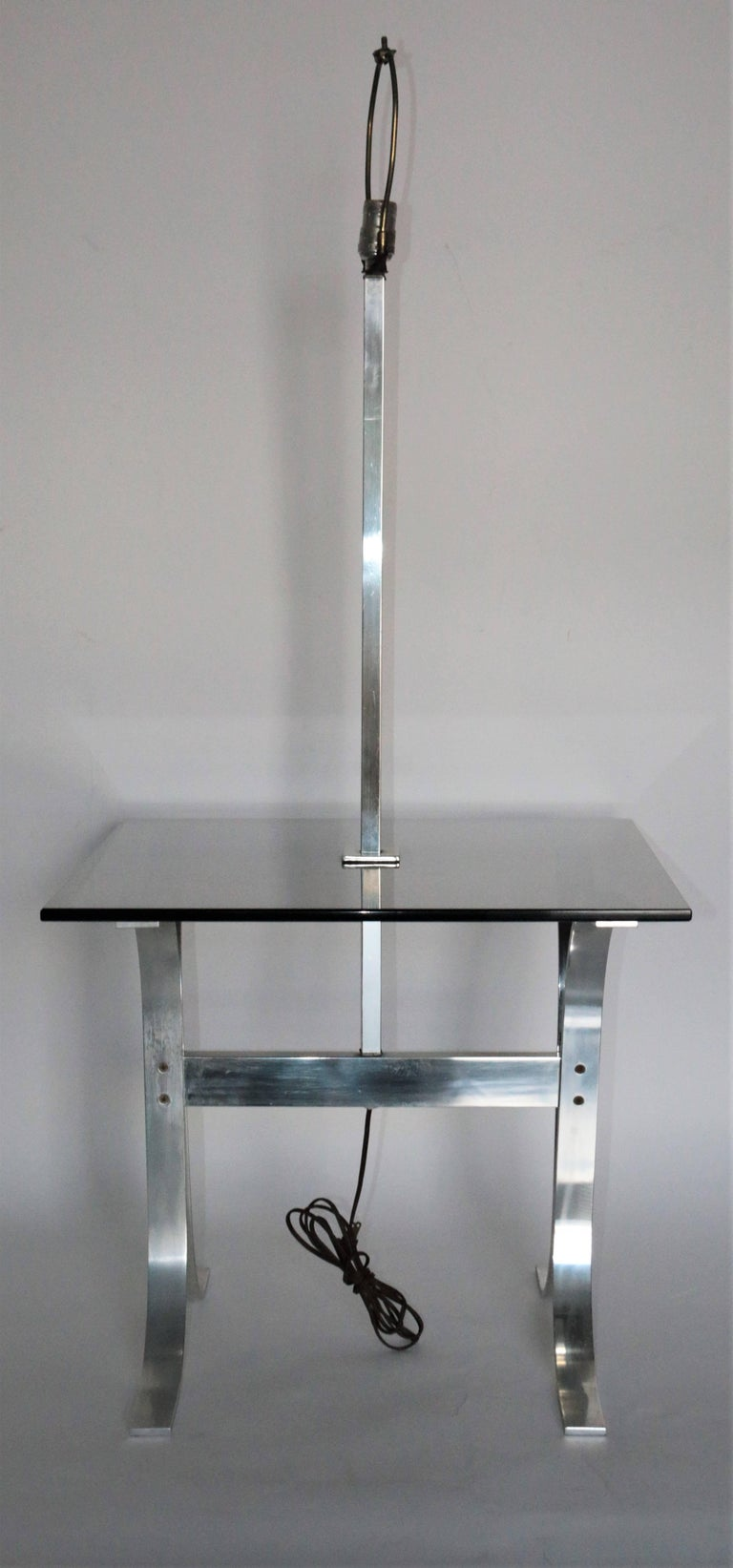Mid-Century Modern Side Table with Built in Lamp For Sale ...