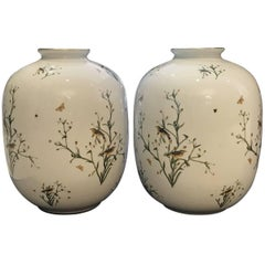 Pair of Rosenthal German Porcelain Ovoid Vases